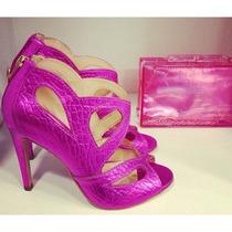 Sandalia Pink Metalizada Luiza Barcelos