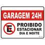 Placa Proibido Estacionar Grande 30x40 Cm - Vários Modelos