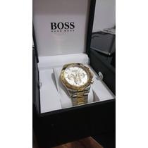Relógio Hugo Boss Aço - Dourado E Prata