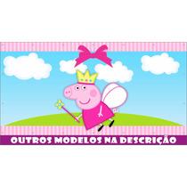Painel Banner Lona Decorativo Festa Peppa Pig 2,0x1,0m