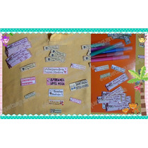 Etiquetas Escuela Útiles Escolares Personalizadas