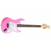 Guitarra Strato Memphis By Tagima Mg-32 Rosa + Brinde!