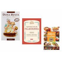 Kit Livros - Dona Benta + Palmirinha + Bíblia Da Culinária !