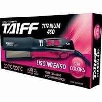 Chapa Bivolt 200ºc / 230ºc - Titanium 450 Azul Taiff