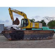 Excavadora Hidraulica Sobre Flotadores, Komatsu Pc 150 Lc