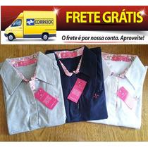 Kit Atacado 3 Camisas Polo Feminina Dudalida Ralph Lauren