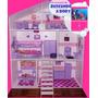 Casita De Muñecas Barbie,muebles Y Regalos,excelente Calidad