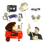 Projetor Argamassa 3.6 Kit3+ Compressor50 -127v+ Kit Pintura