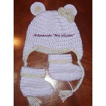 Conjunto Gorro Y Botitas Para Bebes/ Niños Tejidos Crochet