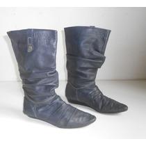 Botas Ricky Sarkany Caña Alta Cuero Numero 38 Zapatos Mujer