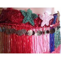 Traje De Bellydance Danzas Árabes Rojo Y Colores