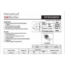 Transistor Irfb3006 - Irfb 3006 Peça Original Pronta Entrega