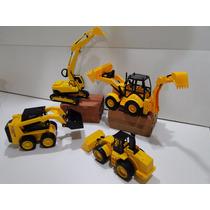 Brinquedo Contrução Bob Cat Retroescavadeira Bitrem Trator