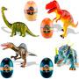 Coleção 4 Miniaturas De Dinossauros Quebra Cabeça 3d Médio