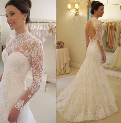 Vestido de novia elegantes de encaje