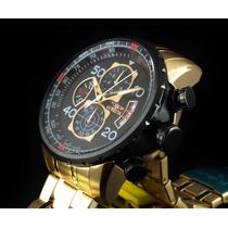 Lindo Relógio Invicta Specialty Aviator 17206 Ouro 18k !
