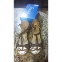 Sandalias Zapatos Corcho Femini Marron Talla 39 Nuevas