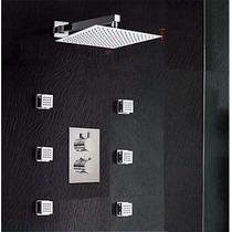 Regadera Termostatica Lluvia 20cm X 20cm Con Jets