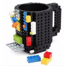 Lote 6 Tazas Build-on Brick Diseño Bloques De Lego