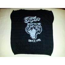 Remera De Lanilla Estilo Sweater Estampa Tigre