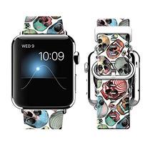 Ftfcase Bandas Apple Venda Reloj 42mm 100 Cuero + Acero Inox