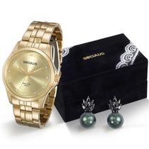 Relógio Seculus Feminino 28713lpskda1k1