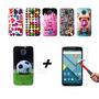 Combo Funda Tpu Diseño Motorola Moto X2 + Vidrio Templado