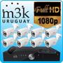 Kit Seguridad Dvr 8 Camaras Int/ext Dia Noche Cables Ip Cctv
