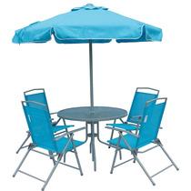 Conjunto 4 Cadeira Ombrelone Mesa Miami Praia Piscina 85300