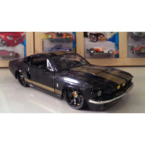1:24 Shelby Gt500 1967 Negro Jada Ford Mustang Display