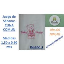 Juego De Sabanas Cuna Comun Kendy 1,50 X 0,90 Mts