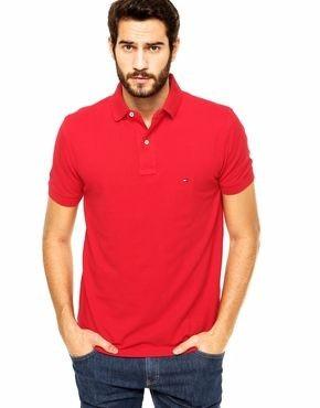 Camisa Polo Tommy Hilfiger Vermelha Original - R  139 6685218a7472b