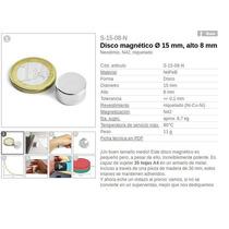 Iman De Neodimio Grado N42 Lo Mejor 15*8mm