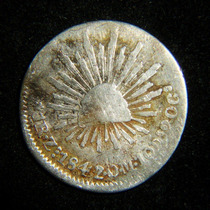 Moneda 1 Real 1842 Zs Zacatecas Plata Republica %