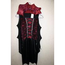 Disfraz Vampira Viuda Negra Niña Talla 10/12 Halloween