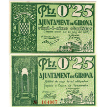 Guerra Civil 0.25 Pesetas Girona 1937 Catalunya!