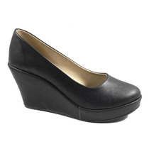 Clasico Escotado Liso Plataforma Zapato Mujer 200