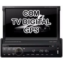 Dvd Retratil Napoli 7968 + Tv Digital+gps+bluetooh+câmera Ré