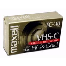 Fita Vhs-c Maxell Hgx-gold Tc-30 Lacrada Original