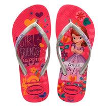 Sandália Havaianas Kids Slim Princesa Sofia - Lançamento