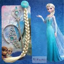 Corona,cetro Y Trenza Princesa Elsa Frozen Peluca, Fiesta.