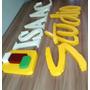 Letra Caixa, Logo Tipo, Galvanizada, Pintura Automotiva.30cm