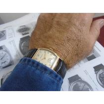 Relógio Benrus Curvex Artdeco Anos 30 Folhado Ouro
