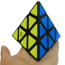 Cubo Rubik Pyraminx Moyu Base Negra, Lubricado