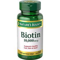 Biotina 10.000 Mcg Nature Bounty - 120 Softgels. P. Entrega!
