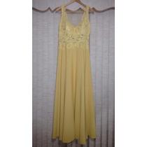 Vestido De Festa Longo Amarelo Bordado. Madrinha.e Formatura
