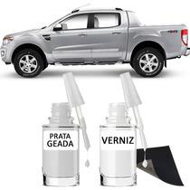Tinta Tira Risco Automotivo Ford Ranger Cor Prata Geada