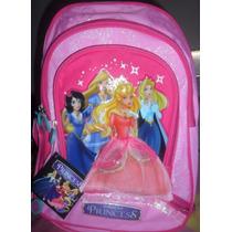 Bolso O Morral Escolar Para Niñas De Princesas Original