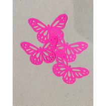 Mariposas Troqueladas Scrapbooking Varios Colores Pack X 50