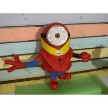 Piñata De Minion Hombre Araña, Disfrazados De Superhéroes